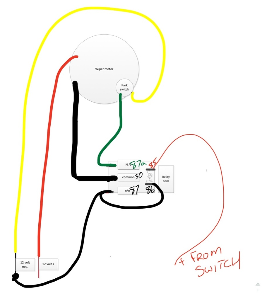 12 Volt Windshield Wiper Motor Wiring Diagram Circuit Universal Turn Signal Switch Vintage Hot Rod P700 Page 2 The Honda Side By Club Air Conditioner