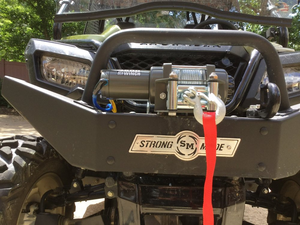 P500 - Post your front bumper/winch mount pics  | The Honda Side by