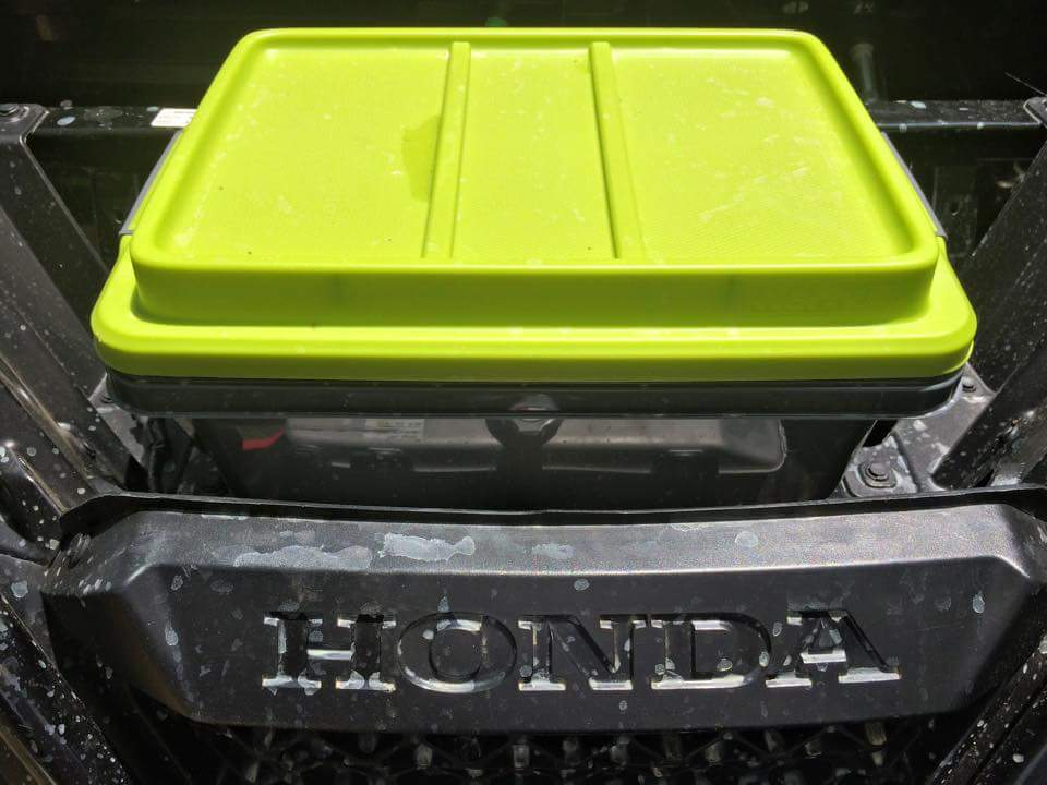 Hefty storage solutions 18qt hi rise with snap lid.From Loweu0027s. & P500 - under hood storage | The Honda Side by Side Club!