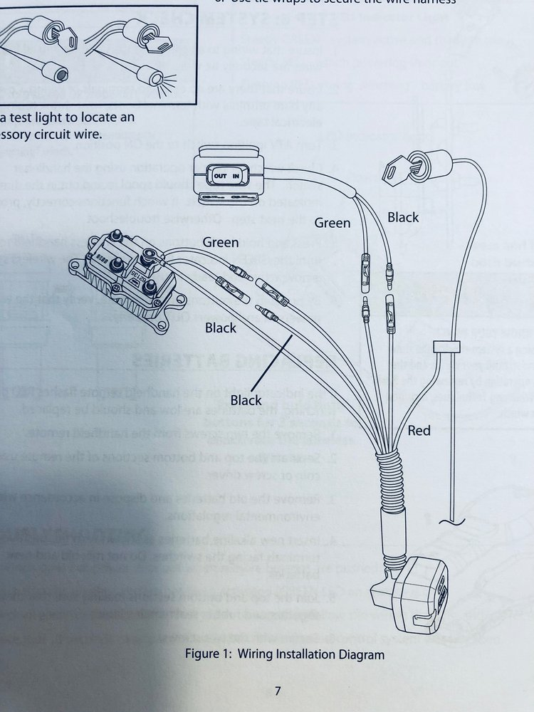 wiring warn wireless remote to warn/honda winch - the honda side ...  honda sxs club
