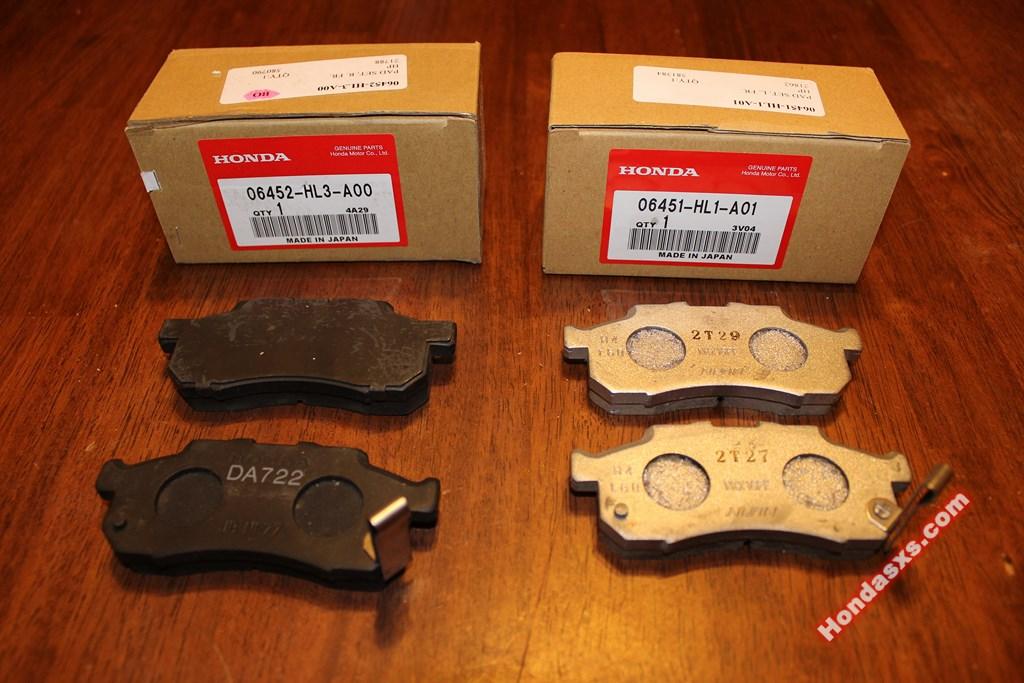 Honda Hr V Centric Disc Brake Pad Set Oem 105 16540 10516540