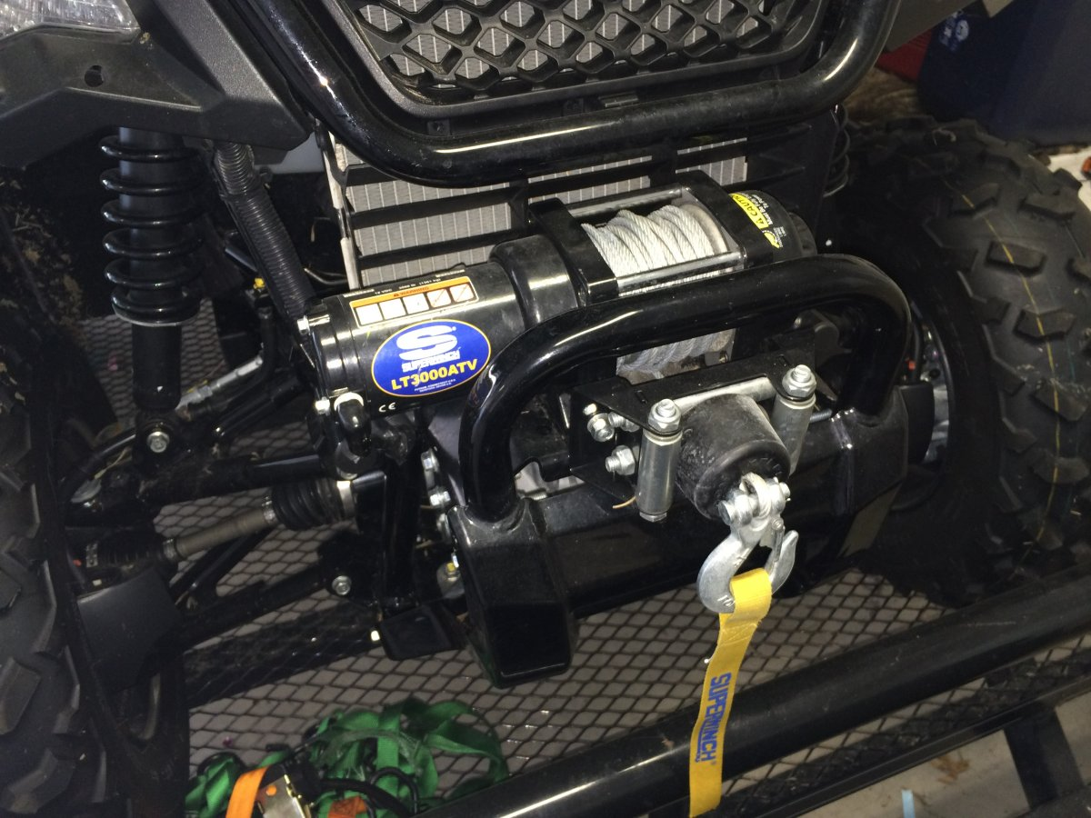 detailed install photos of superwinch terra 35 the honda side by honda pioneer 500 wiring harness at crackthecode.co