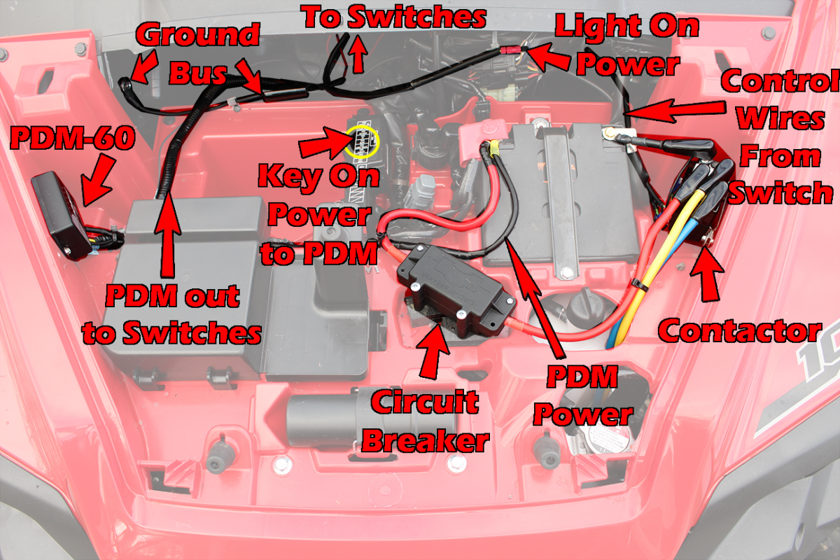 p1000 pioneer 1000 terra45 winch install the honda side by pdm60 wiring diagram at edmiracle.co